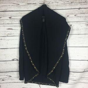 Grace Knit Dressing Black Studded Cardigan M